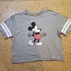 Womens Cropped Mickey Mouse 1928 TShirt